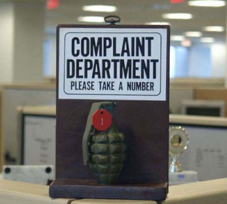 grenade complaint department